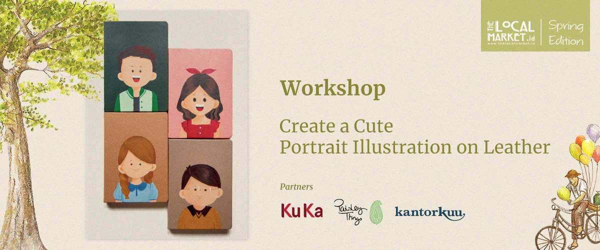 CREATE A CUTE PORTRAIT ILLUSTRATION ON LEATHER (SESSION 2)
