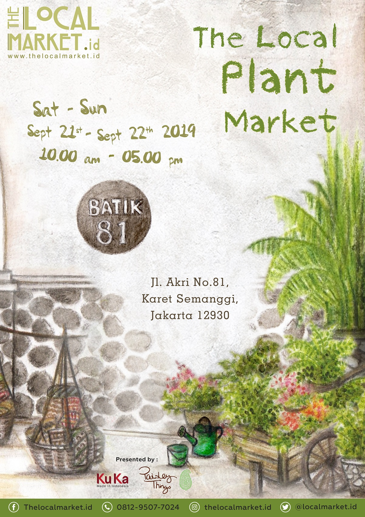 The Local Market - Plant Market @ Batik 81